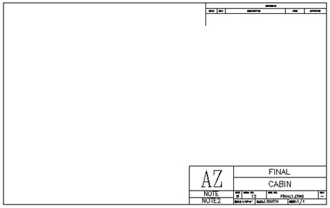 autocad templates free title block template
