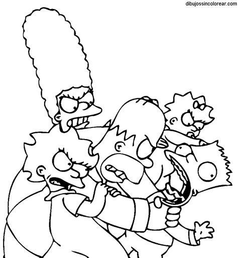 imagenes de la familia sin color dibujos de la familia simpsons para colorear