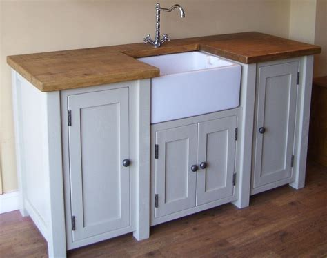 painted free standing kitchen belfast sink unit cupboards shabby chic freestanding belfast butler sink unit any