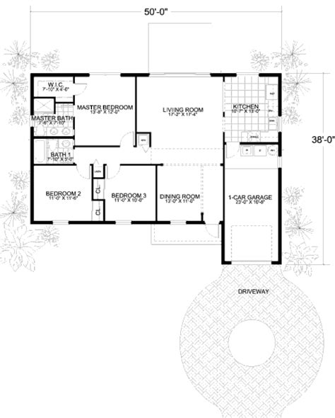 420 sq ft house plans mediterranean style house plan 3 beds 2 baths 1320 sq ft plan 420 106