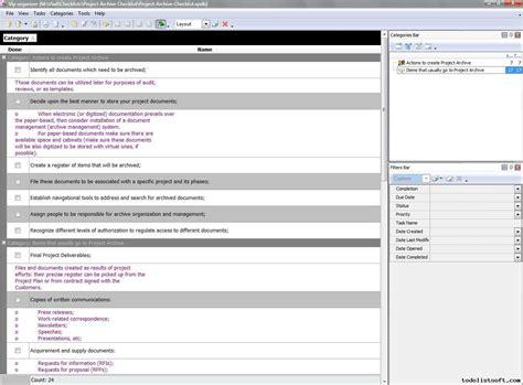 Project Management Templates Archive Template