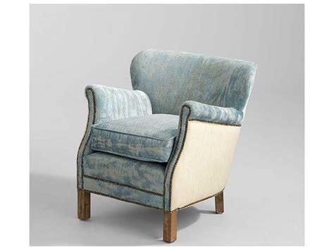 Blue Velvet Accent Chair Cyan Design Bailey Blue Vintage Velvet Accent Chair C307709