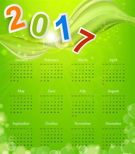 design calendar background calendar 2017 templates green abstract background free