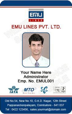 student id card free template school id card horizontal id card design student id