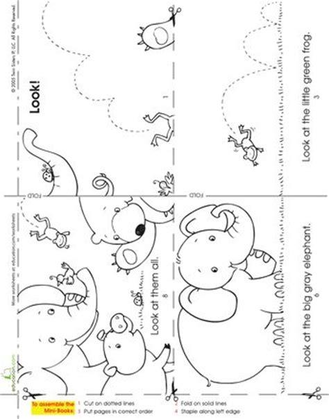 printable animal books kindergarten make a mini story book look at the animals fine motor