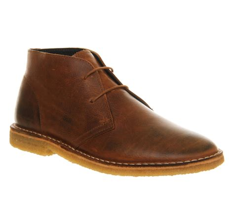 mens ask the missus cookie desert boots leather boots