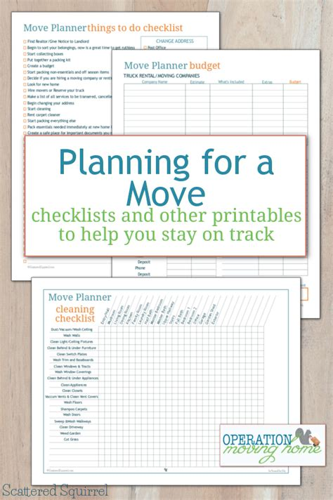 moving budget template more move planner printables to help you stay on track