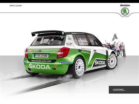 skoda racing skoda auto racing by jakub rafaj dribbble