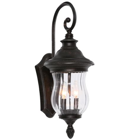 home decorators outdoor lighting home decorators collection wesleigh 2 light bronze outdoor