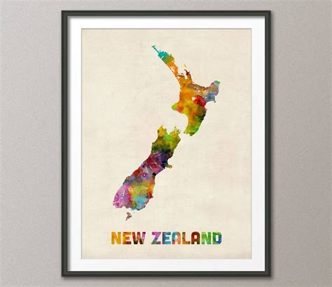 watercolor tattoo new zealand 20 best collection of new zealand map wall