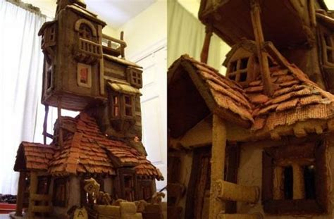the weasley s burrow gingerbread house is a carefully