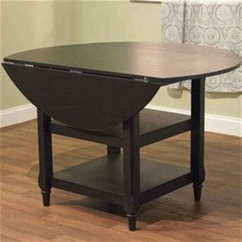 Pottery Barn Shayne Drop Leaf Kitchen Table Black Look 4 Black Drop Leaf Kitchen Table