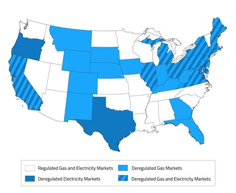 Deregulated Energy Markets Map Of Deregulated Energy States Updated 2017 Electric