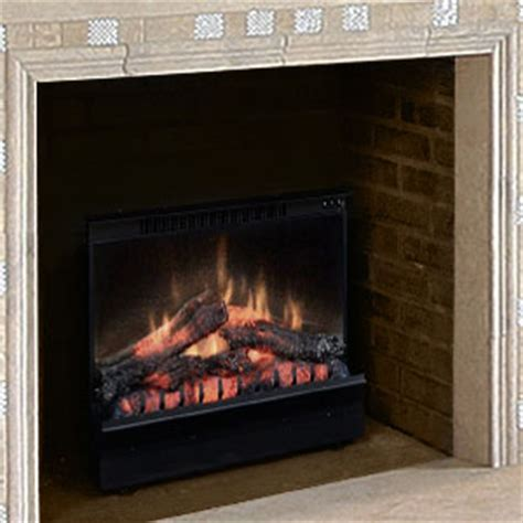 electric fireplace log set dimplex 23 inch deluxe electric fireplace insert log set