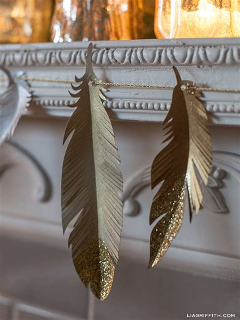 Feathers Out Of Paper - 20 and festive diy bunting banners and garlands