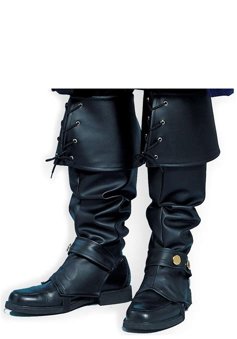deluxe pirate boot tops black renaissance boot tops
