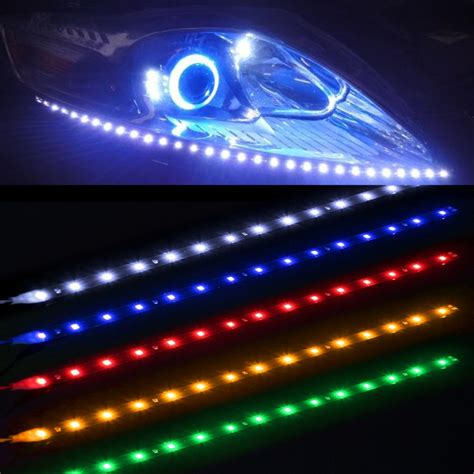 led lu depan mobil waterproof 5w 15smd 30cm