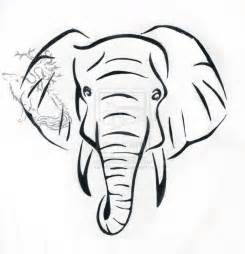 Elephant Wall Mural black and white elephant head drawing best photos of face
