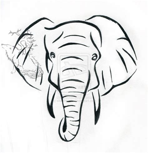 elephant tattoo stencils elephant tattoo design by silverheartx on deviantart