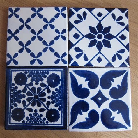blue pattern wall tiles the pink button tree how to make coasters from wall tiles