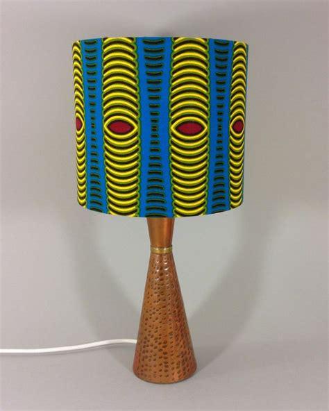 Handmade Fabric Lshades - ankara vintage l with cone shaped copper base