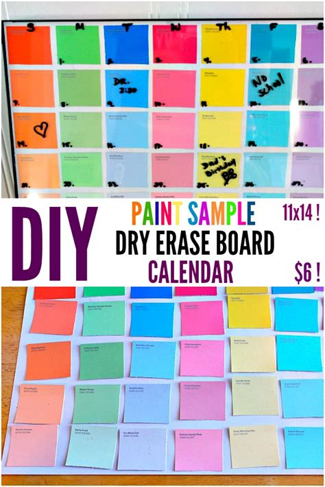 how to make a erase calendar from a picture frame diy paint sle erase calendar