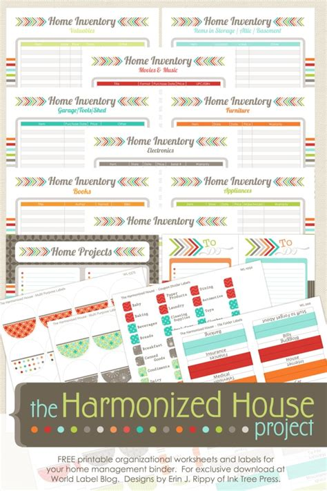inventory labels template inventory organizing the harmonized house project worldlabel