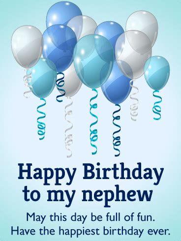 happiest birthday birthday balloon card  nephew birthday greeting cards  davia