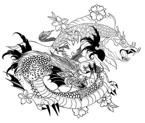 poissons tir 233 s par la main de dragon et de koi avec le