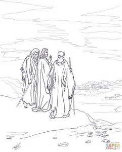 jesus road emmaus coloring free printable coloring pages