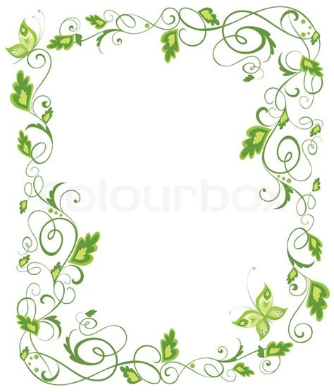 Floral In Green floral green border stock vector colourbox