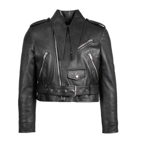 balenciaga black zip up motorcycle jacket size 2 xs tradesy