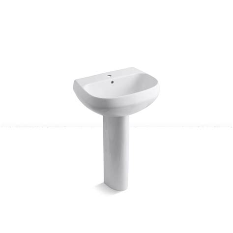 single hole pedestal kohler wellworth single hole vitreous china pedestal sink