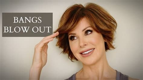 how to blow out bob haircut how to blow out bangs with tons of volume youtube