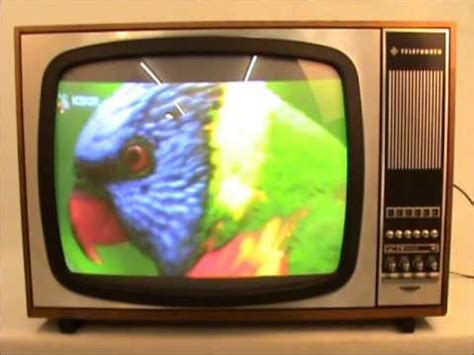 what year was the color tv historic color television telefunken palcromat 728t from
