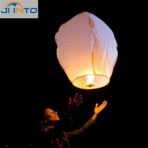 How To Make Paper Sky Lanterns - 10pcs white paper lanterns sky fly candle
