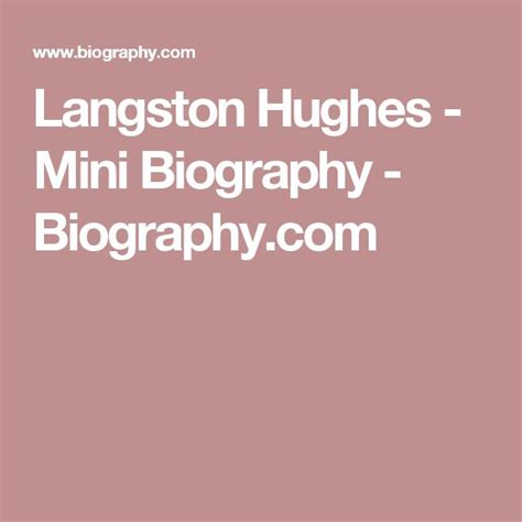 Langston Hughes Mini Biography | meer dan 1000 idee 235 n over langston hughes op pinterest