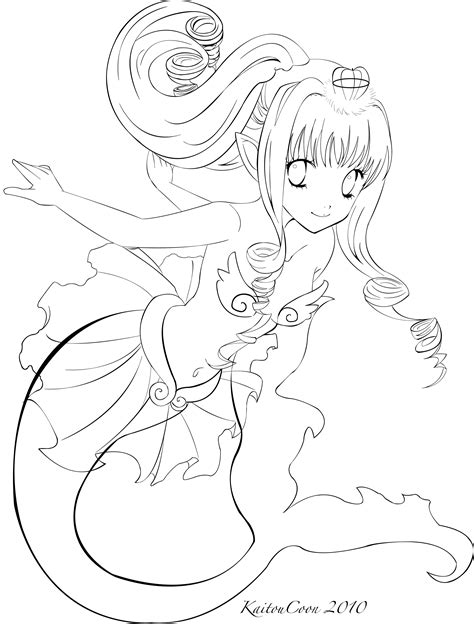 chibi mermaid lineart by kaitoucoon on deviantart mermaid trade lineart by kaitoucoon on deviantart