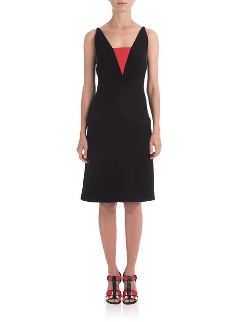 Vumeta Dress 1 bottega veneta v neck colorblock dress in black lyst