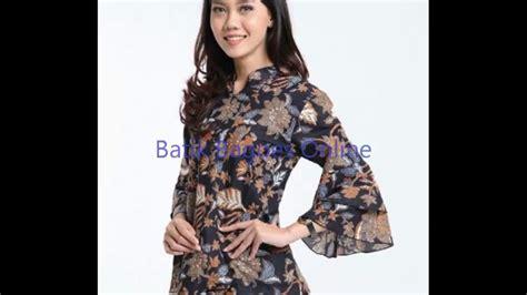 Atasan V Bunga baju batik kerja wanita motif bunga