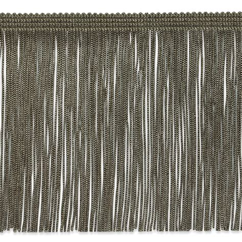 upholstery fringe 6 quot chainette fringe trim taupe discount designer fabric