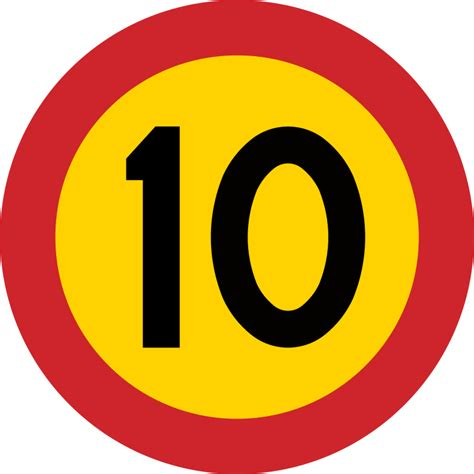 ficheiro 10 skylt swedish roadsign svg wikivoyage