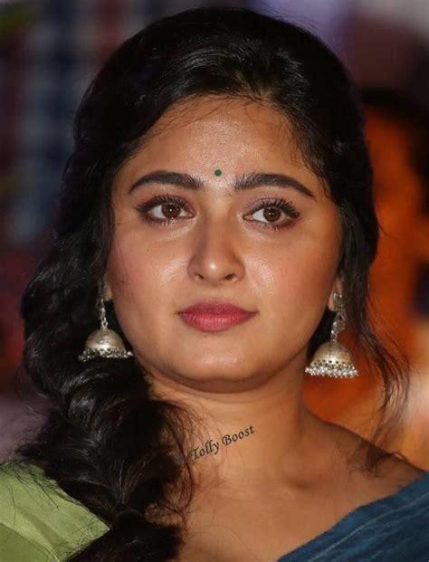 telugu actress face closeup anushka shetty beautiful earrings face closeup telugu
