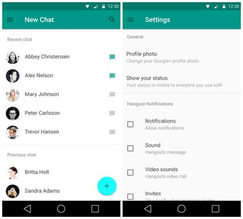 peak design google hangout sneak peek at android l s redesigned settings gmail