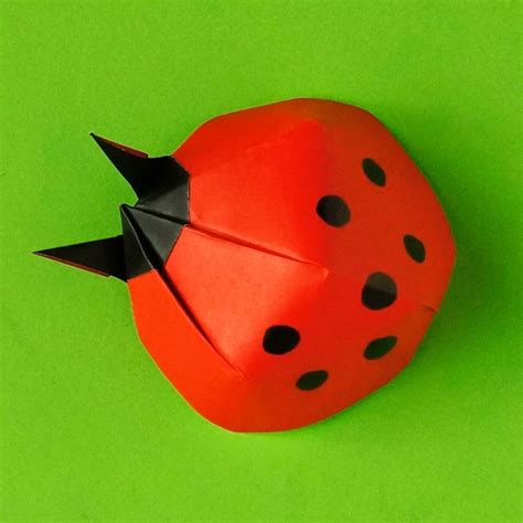 Origami Ladybug - make an origami ladybug and bring yourself luck