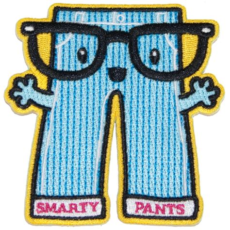 smarty pants iron on patch iron on patches fun stuff
