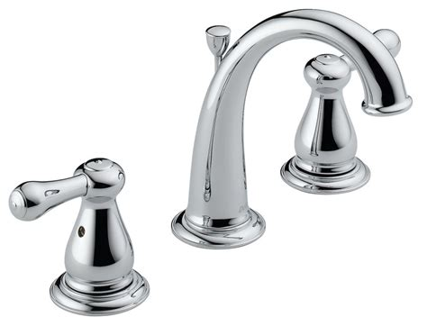 bathroom faucet handles faucet 3575 in chrome by delta
