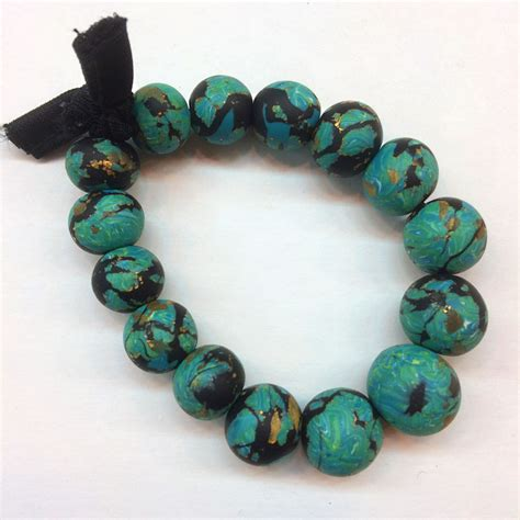 premo sculpey 174 faux turquoise beaded bracelet