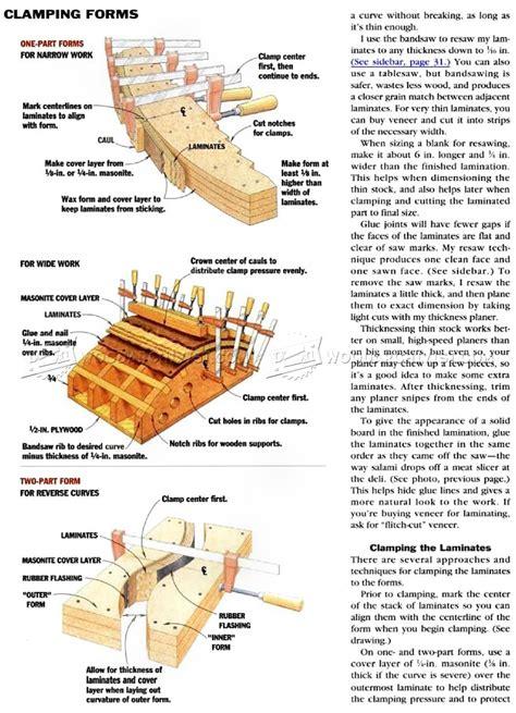 bent lamination tips  techniques woodarchivist