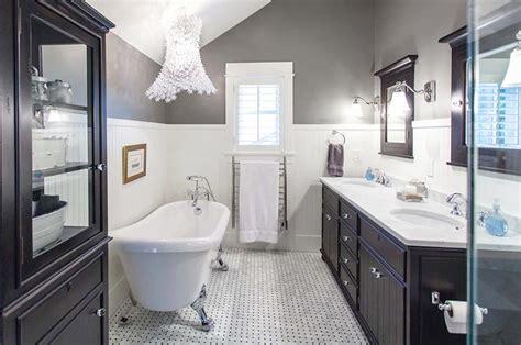 黑白卫生间地砖图片 装修效果图案例 2018年装修效果图 齐家网装修图片频道